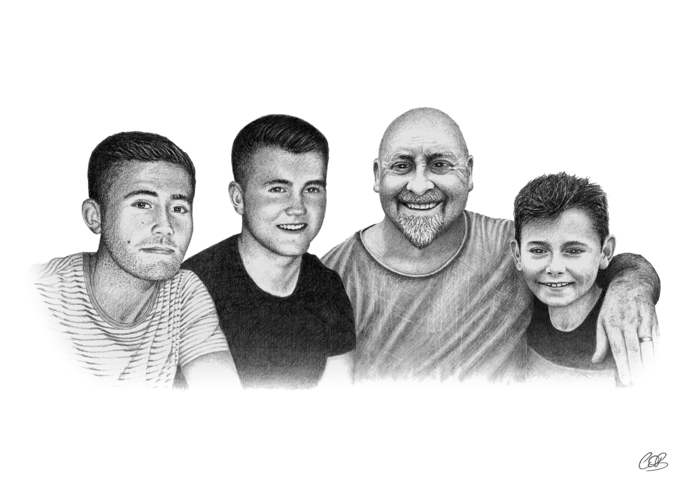 Denny and the Boys drawing