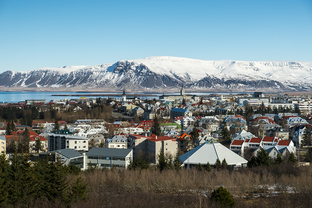 View of Reykjavik from Perlan, Iceland